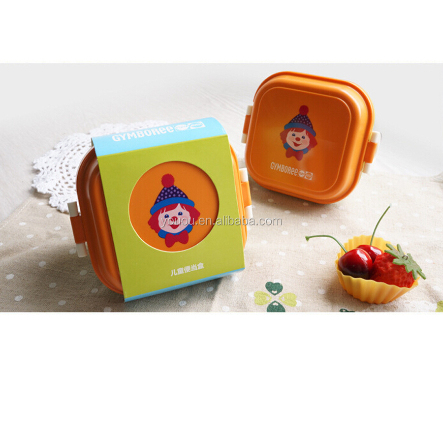 Cute Plastic microwavable Lunch Box for Children
