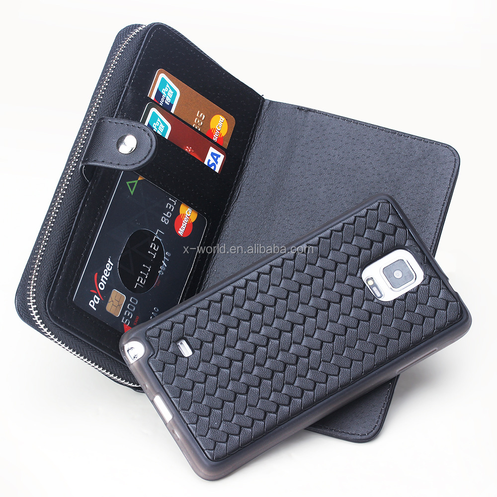 Newest release Multiple card slots PU leather case for samsung note4