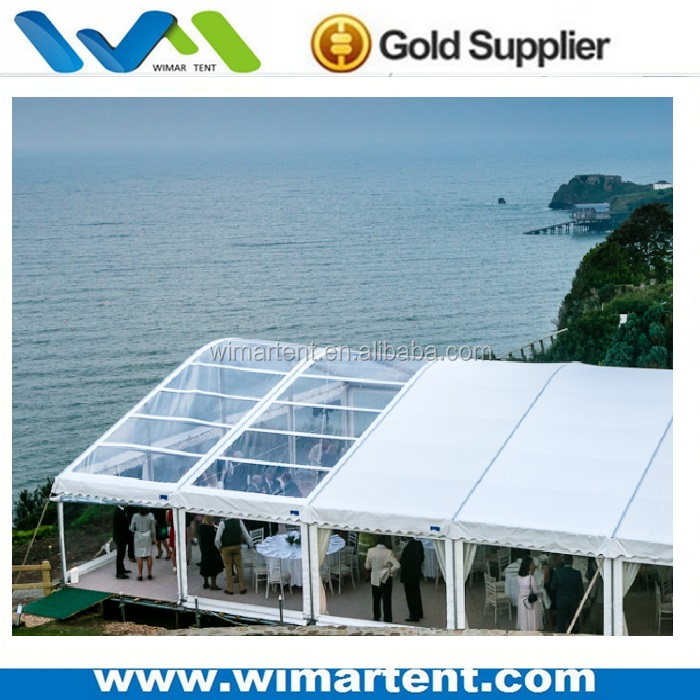 large clear roof winter party dome tent