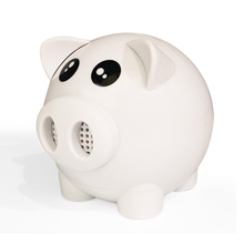 Factory Price Mini Outdoor Portable Piggy White Speaker as a Good Gift