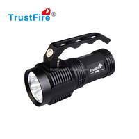 LED handheld spotlight rechargeable flashlight 3000 lumens hand light with 4*18650 rechargeable batteries + charger