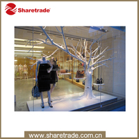high quality window display without leaves make artificial trees