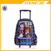 2015 Monster High roller school backpack girl kids trolley school bag
