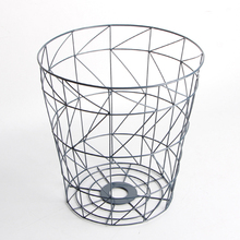 Eco-friendly feature metal wire laundry storage basket