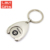 Hot Sale Custom Key Rings Coin Holder, Trolly Cart Caddy Coin Key Chain With Coin Holder