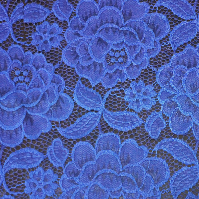 SPR-L028 embroidery design nylon/polyester african bazin embroidery mesh fabric