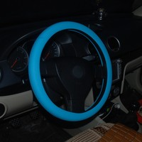 Factory wholesale car cover fashion design silicone shrink car steering wheel cover