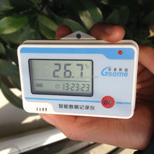 Best price Mini disposable temperature data logger DL-W10 LCD hint with LED blinking alarm