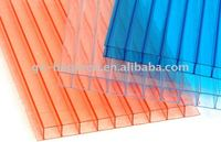 10 years guaranteed twin-wall polycarbonate hollow sheet