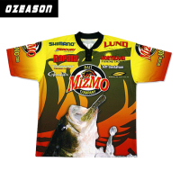 Short Sleeve Tournament Fishing Shirt Custom Made Fishing Jerseys
