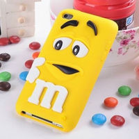 Newest Arrival Fashion Cute Cell Phone Soft Silicone Case for iPod Touch 4