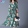 spring womens fashion comfortable beautiful printed long sleeve long dress