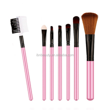 New 7pcs Black Oval Toothbrush Makeup Brush Set