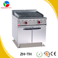 commercial lava rock grill with cabinet gas stove, gas grill restaurant, commercial electric grill