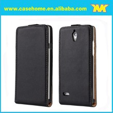 genuine leather flip case for huawei ascend g700,magnet flip case for huawei g700