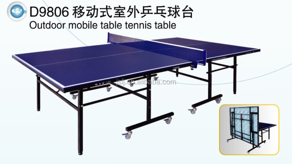Outdoor Aluminium Plastic Moveable Table Tennis Table Wholesales,Movable Ping-Pong Table,High Quality Folding Table For Markets