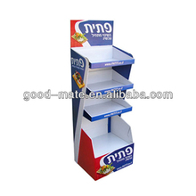 Fast Food Promotion Display Cardboard Retail Display Stand