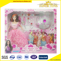 Custom 11 inch fashion girls toys and dolls with plastic full body