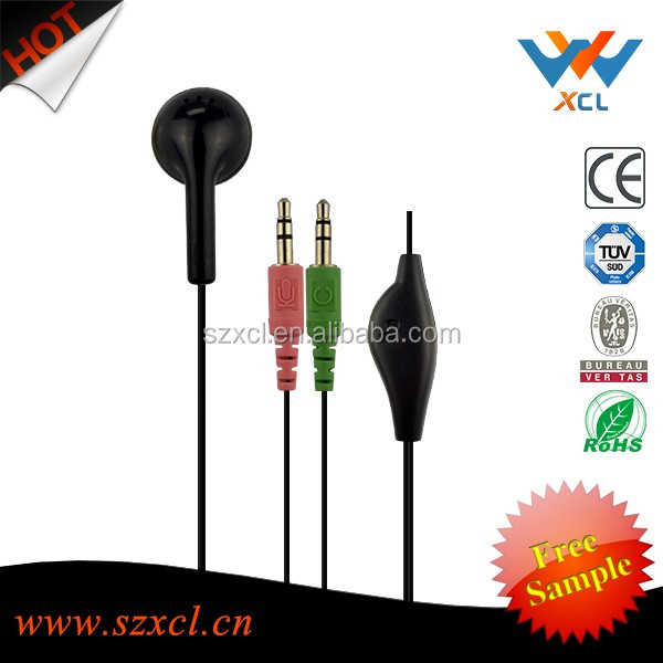 retractable funny headphones earphone for mobil phone with mic