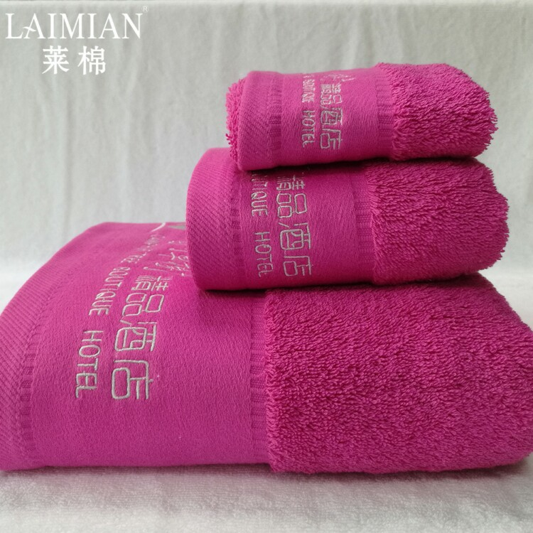 2018 Fashion souvenir red luxury towel sets design your own organic egyptian cotton towel