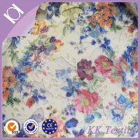 NO.675 charming colors flower cotton fabric 100% Polyester lace mesh with laser flower embroidery ladies clothes fabric