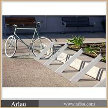 outdoor cast aluminum bicycle parking stand