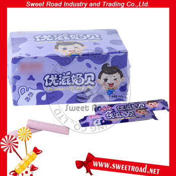 Dried Long Milk Slice Candy Tablet