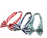 Wholesale women simple stripe chiffon elastic hair band DS913115