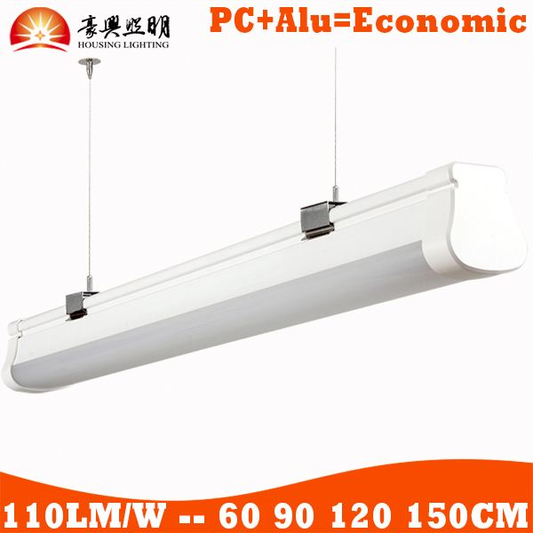 Waterproof Fluorescent Decorative Light Fixture Outdoor Led Recessed Led Ceiling Tri-Proof Batten Tube Fitting Lighting