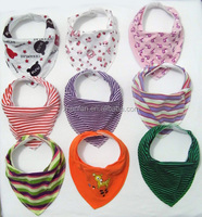 hot sell absorbent cotton and fleece baby bandana drool bibs