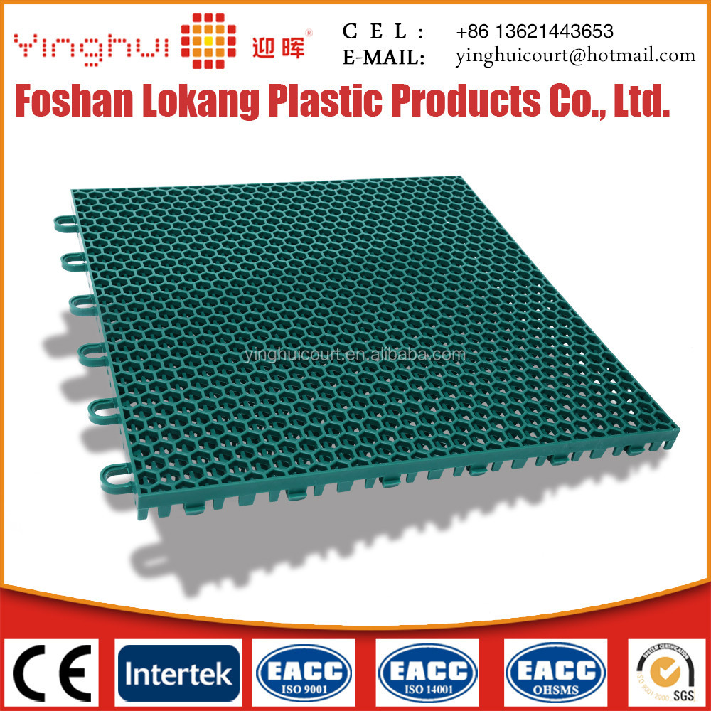 ITF Interlocking Outdoor Basketball Court Plastic Tile O-01