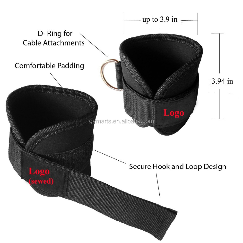 Ankle Strap for Cable Machine attachment for Leg and AB Exercise