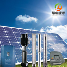 Low cost 4 hp 3 kw solar water pump system with solar pump inverter & solar panel lift water from Deep well & River