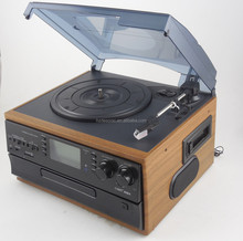 old antique customized gramophone viny record player with multifunctional funtion