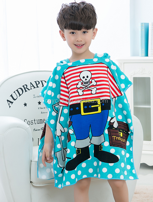 China supplier plain terry shower hooded towel for kids, kids hooded towel