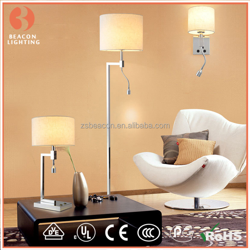 most popular high quality cheap price fabric shade modern indoor hotel wall light and sconces with led tail MW8306-2