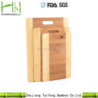 2016 Newest Hot Selling bamboo cutting board set with weight