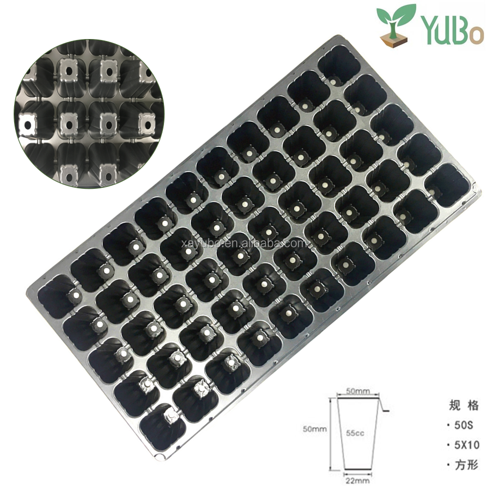 PS material 50 Cell Plastic Seedling Tray For Nursery