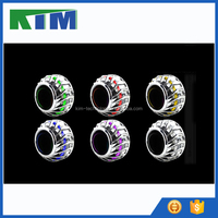 KIM hot sale 2.5 Inch motorcycle projector lens angel eyes headlights for moto