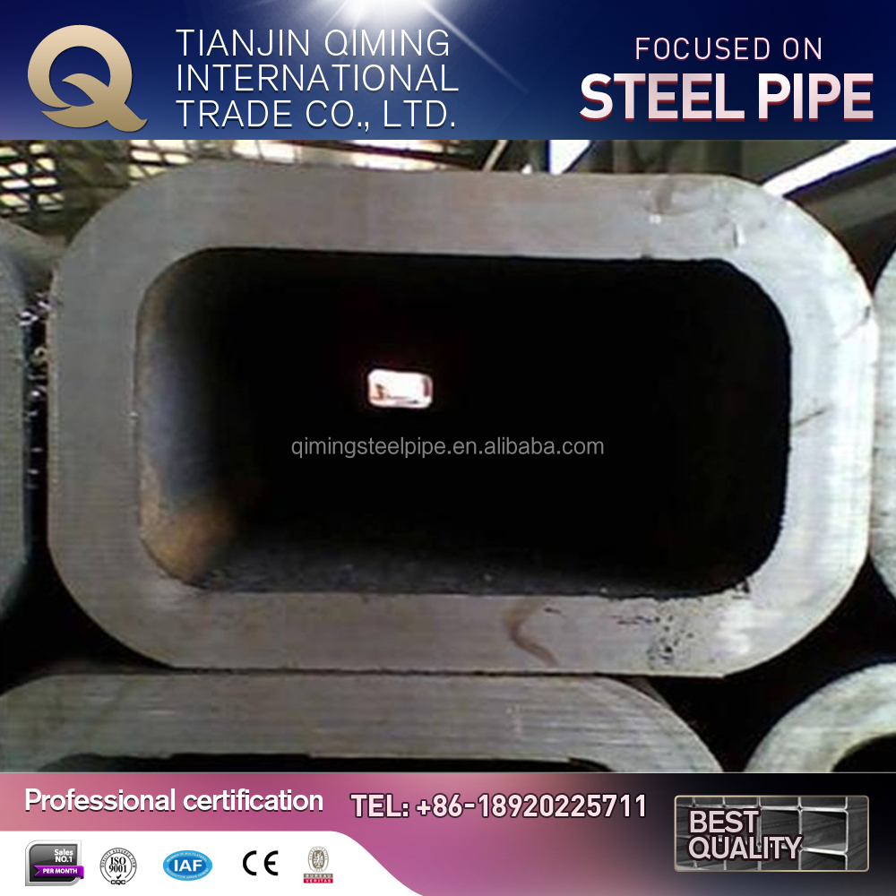 carbon square steel pipe ERW steel pipe black pipe/tube mild steel made in china