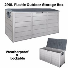 Big capacity plastic outdoor garden storage chests