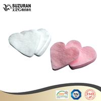 Suzuran Lilybell heart cotton puff 60pcs cotton best lovely cotton puff