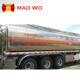 China manufacturer stainless steel lpg 50000 liter water chemical gas fuel oil tank semi trailer