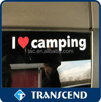 I love camping Print Custom Removable Car sticker,Car window sticker,Car body sticker
