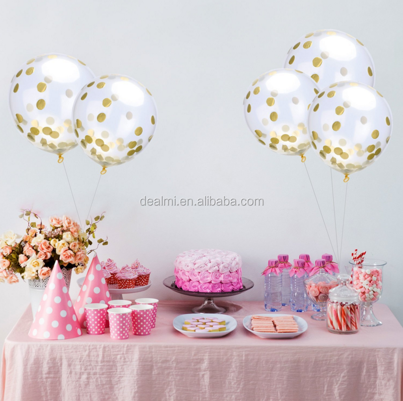 DMlqk746---Wholesale 12 inch lucency paillette scraps of paper balloons holiday party birthday balloons
