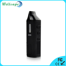 New coming LCD display 1600mAh battery temp control Flash loose leaves herb vaporizer
