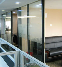 Used glass office partitions for commercial building