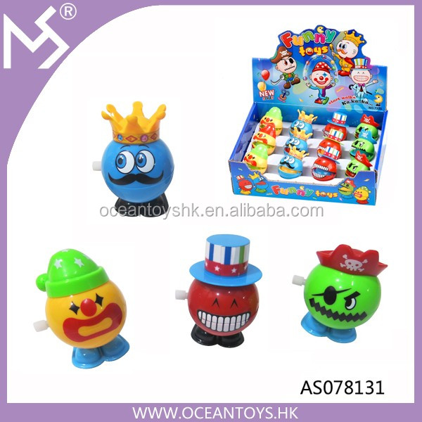 New Funny Promotional ABS Funny Spring Wind Up Jumping Toys