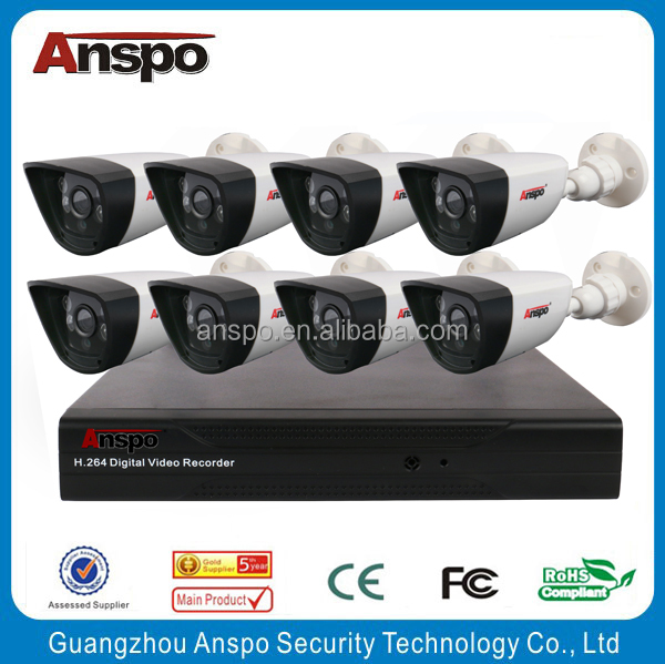 New Hot Saling 1080P AHD DVR Kit, 8CH Full HD CCTV Surveillance AHD Combo Kit