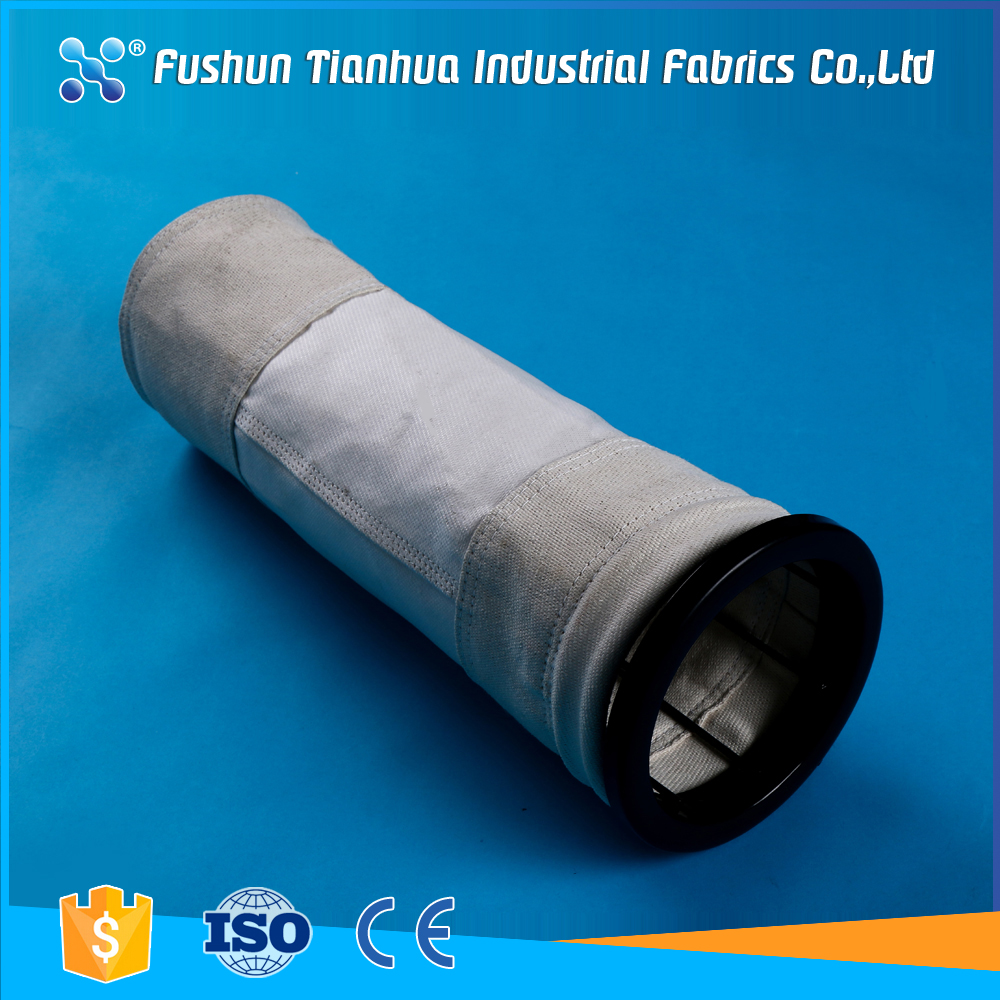 Non woven fiberglass fabric coating PTFE membrane dust filter bag